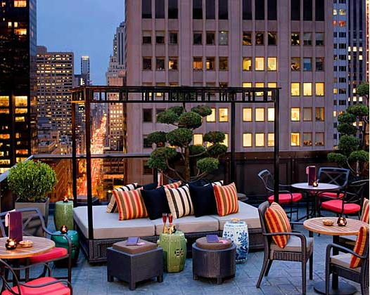 Rooftop de New York Le salon de Ning