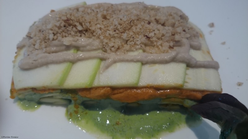 Lasagnes de courgettes restaurant raw vegan Paris