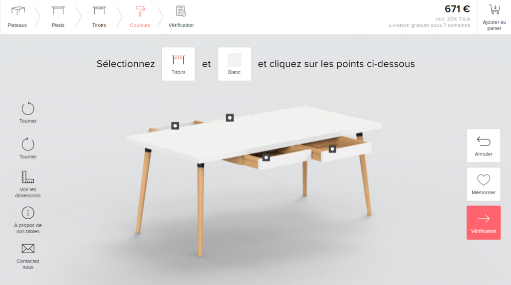 table personnalisable MyCS